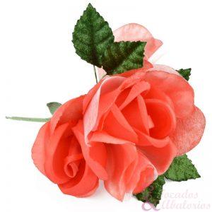 Flor doble terciopelo y organza