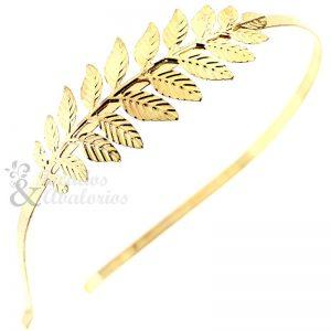 Diadema con rama de latón