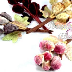 Ramillete 8 uvas terciopelo