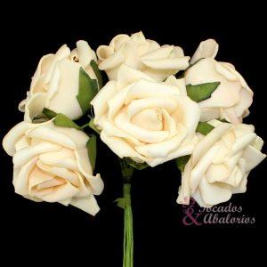 Ramillete 6 rosas foam