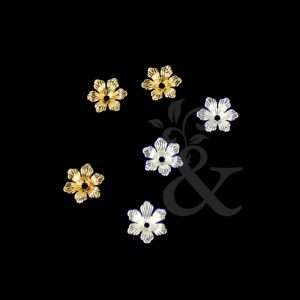 Flor mini latón (3 uds.)