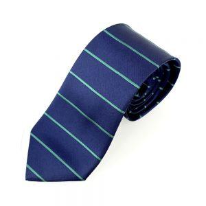 cravate alfonso rayure horizontale bleu marin