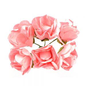 BOUQUET ROSES PAPIER rose