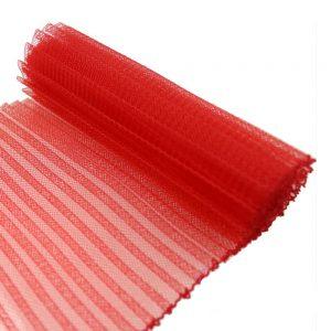 Crin plisado 15 cm rojo