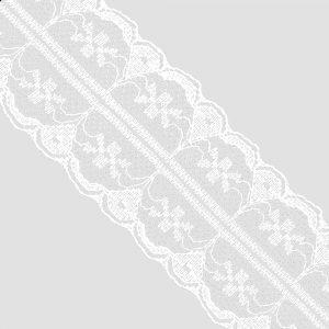DENTELLE EN NYLON 3,5CM blanc