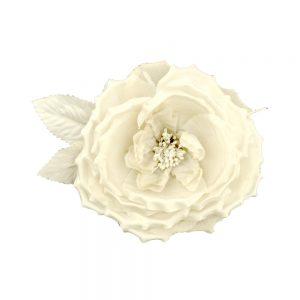 FLEUR LADY SOIE blanc