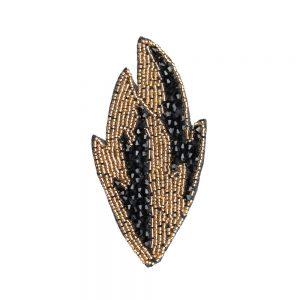 Feuille d'application rocaille 12 × 6 cm noir y or