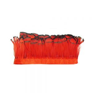 GALON PLUMES LADY AMHERST rouge