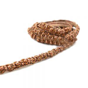Galon perles et pierres cuivre