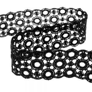 Guipure 3,5cm noir