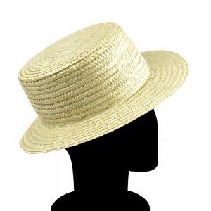 Sombrero Canotier en color crudo