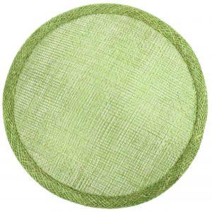 base ronde sinamay 14 15 vert moyen