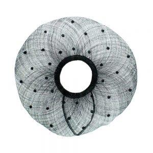bords à capelines plumetis 45cm noir