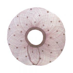 bords à capelines plumetis 45cm rose nude fonce