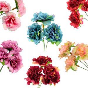 bouquet 3 petits oeillets