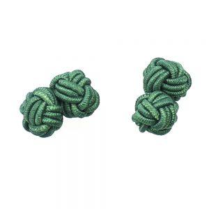 boutons de manchette boule vert moyen