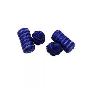boutons de manchette cylindre bleu marin