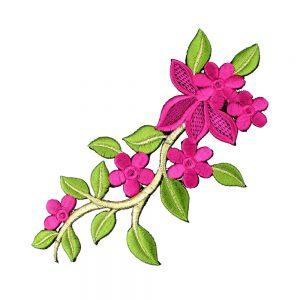 branche fleur brodee bougainvillea