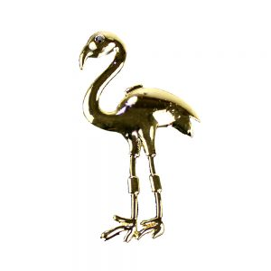 broche flamant or