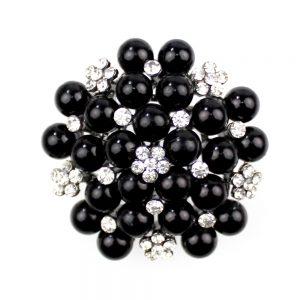 broche mures perles noir