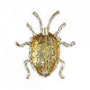 broche scarabee mouchete