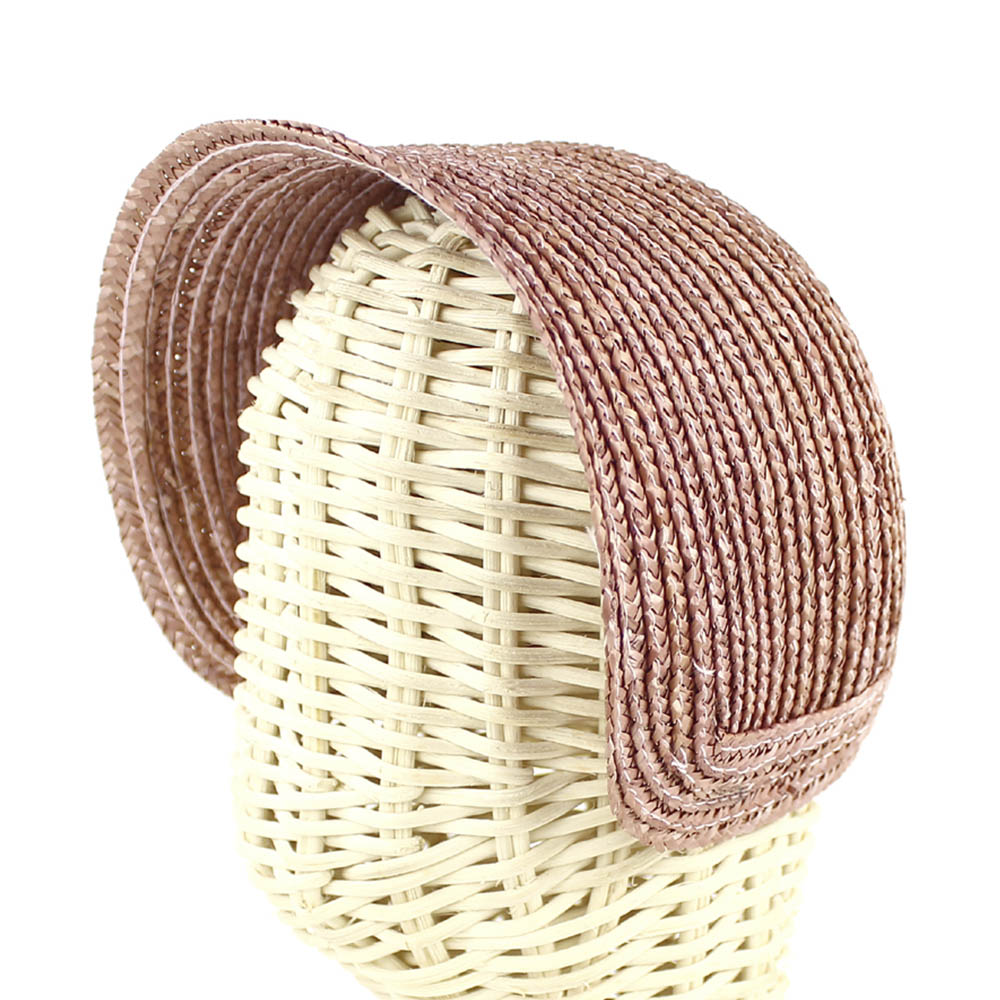 capote paille naturelle rose nude fonce