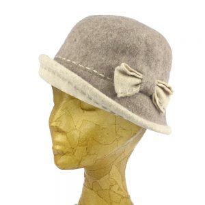 chapeau melon brunella gris clair
