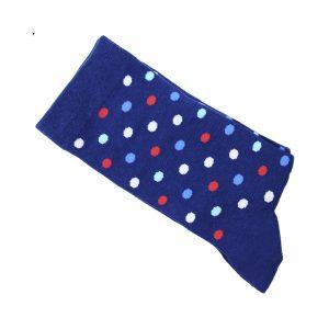 chaussettes pois grands bleu klein