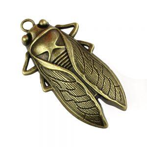cigale metallique bronze