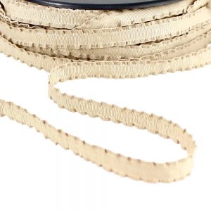 cordon spaghetti passepoils plisse tabac