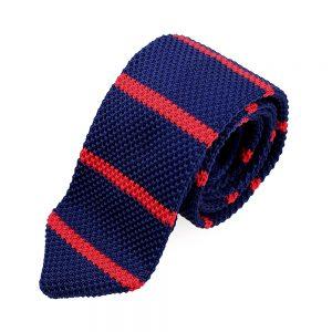 cravate adam croche rayures rouge