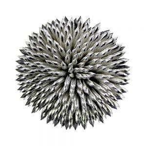 creuset de fleurs gris argent