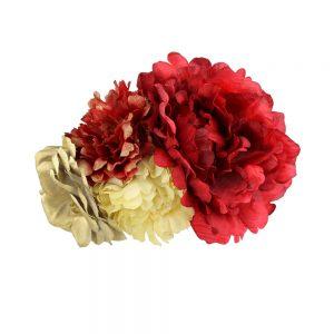 ensamble floral lola grenat