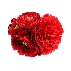 ensemble floral abril rouge