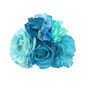 ensemble floral elda tons bleu