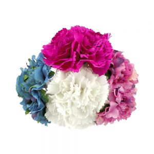 ensemble floral mayo blanc et bougainvillea