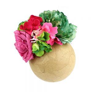 ensemble floral rocio bougainvillea y vert boteille