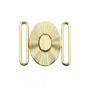 fermoir metal ovale 40 mm or 2