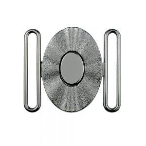 fermoir metal ovale 50 mm argent 2
