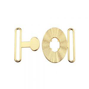 fermoir metal ovale 50 mm or