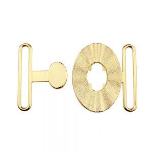 fermoir metal ovale 60mm or 2