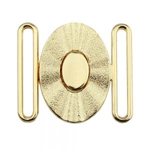 fermoir metal ovale 60mm or