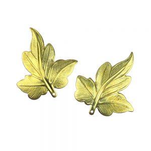 feuille lierre laiton (2 unites) or
