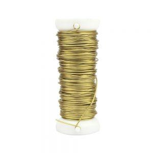 fil cuivre 0,60 mm or