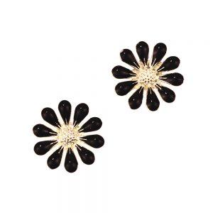 fleur emailee (2 unites) noir