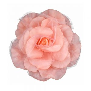 fleur micaela 16 cm saumon