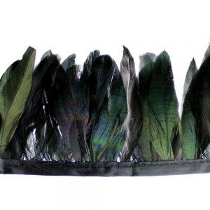 galon plumes canard mini schlappen noir