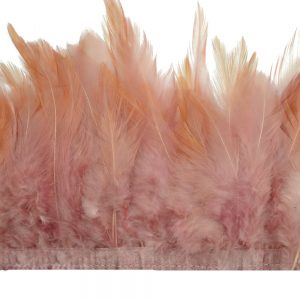 galon plumes coq rose nude fonce