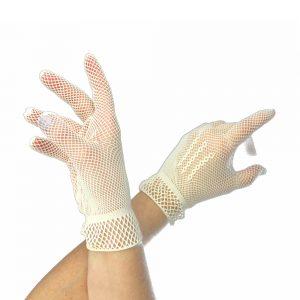 gants courts filet ecru