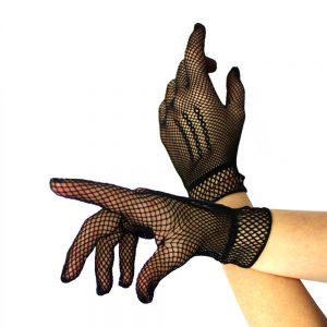 gants courts filet noir